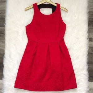 Moulinette Souers Nipped Brocade Red Dress 6